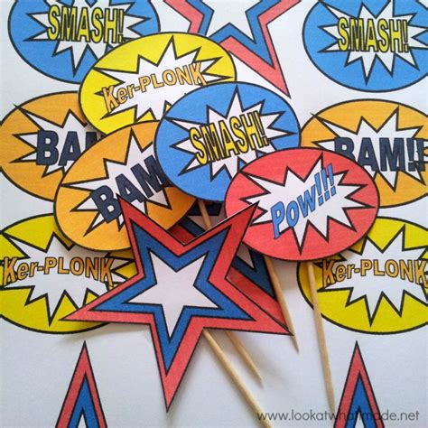 diy superhero pop art party