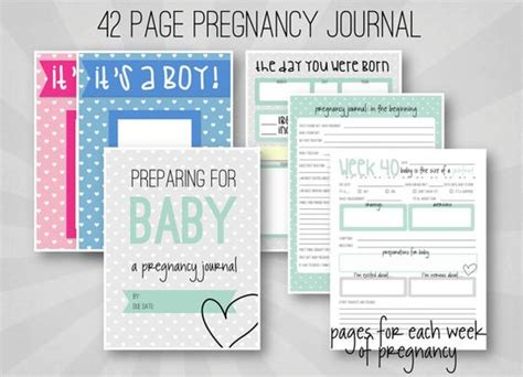 printable pregnancy journal pages pregnancy journal weekly pregnancy log printable