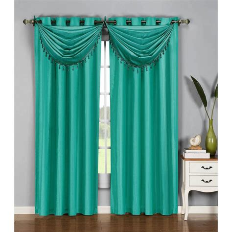 54 x 95 curtains window elements semi opaque jane faux silk 54 in w x 95