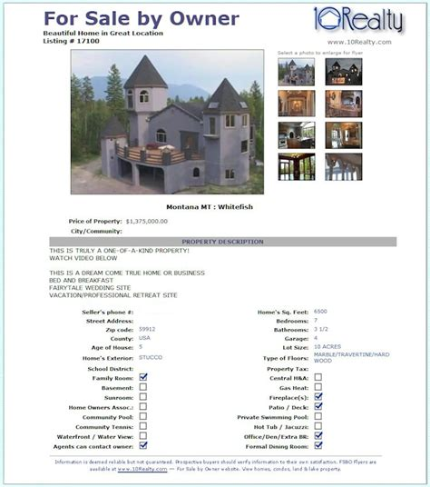 for sale by owner brochure template susan real estate flyers templates
