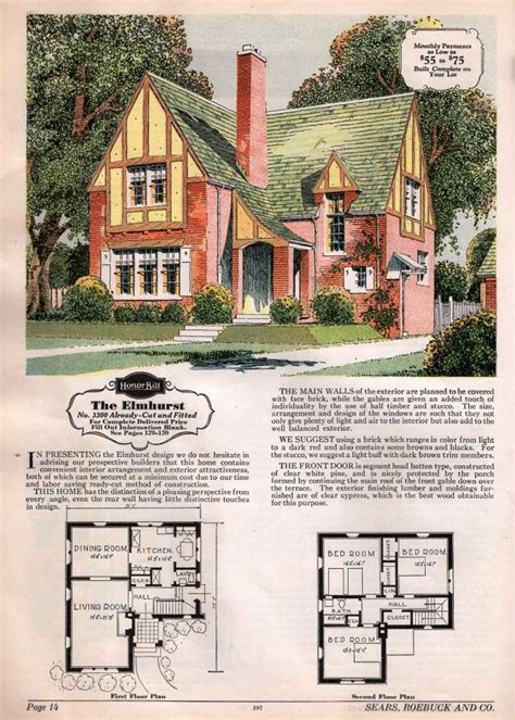 English Tudor Houses by Sears 1929 And 1930 Modern Homes Image Houses By Mail