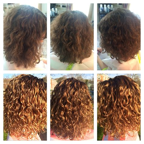 devacurl before and after before after deva curl cut bayalage highlights curls