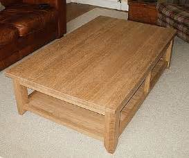 a cabinet carcass large oak coffee table