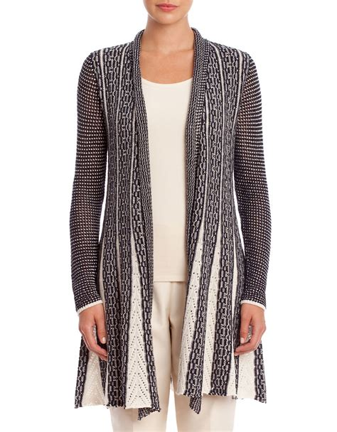 Sweater Trumpet Grey Sm nic zoe trumpet striped fit and flare cardigan in gray lyst