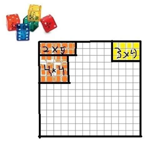 dice game for teaching area and perimeter it s a calling