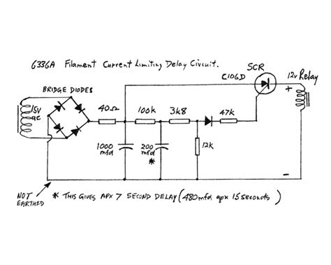 resistor shorted out delay circuit schematic