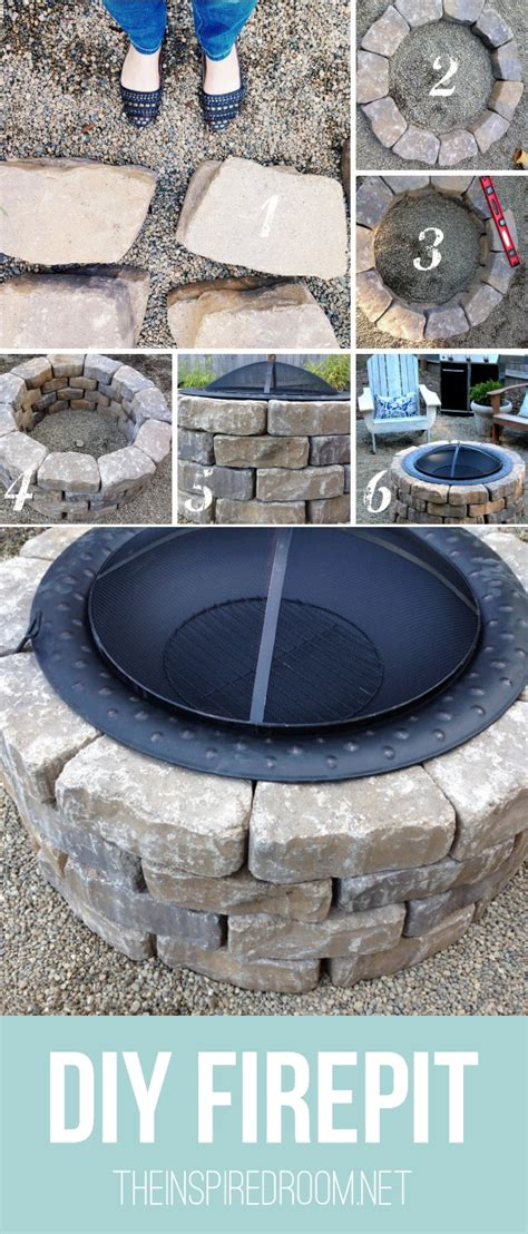 can i build a pit in my backyard easy diy firepit progress on the fall backyard makeover