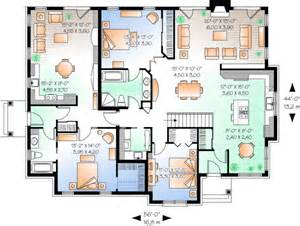 2 bedroom with in apartment house plan hunters