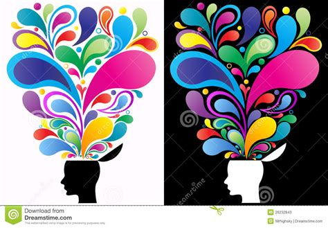 imagenes creativas web creative mind concept stock vector illustration of face