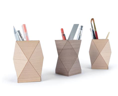 Folded Paper Design - folded wooden objects for the home design milk