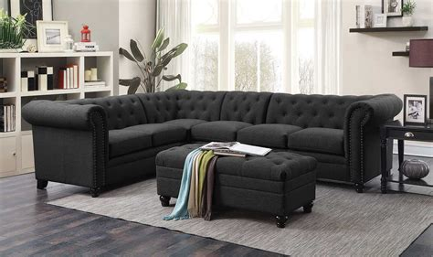 Coaster Roy Sectional Sofa Set Grey 500292 Sec Set At Coaster Sectional Sofa