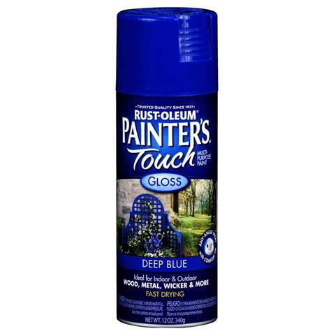 shop rust oleum 12 oz blue gloss spray paint at lowes