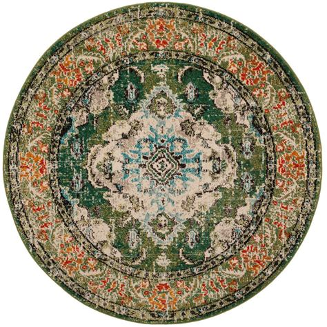 5 foot area rugs safavieh monaco forest green light blue 5 ft x 5 ft