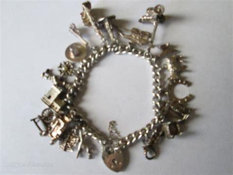 antique charm bracelets for antiques atlas vintage silver charm bracelet