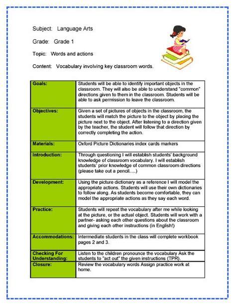 teacher lesson plan template proposalsampleletter com
