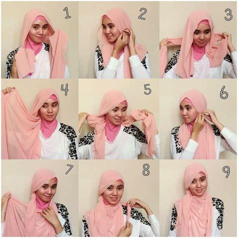 tutorial jilbab paris corak kiat mudah memilih model kerudung untuk wajah bulat