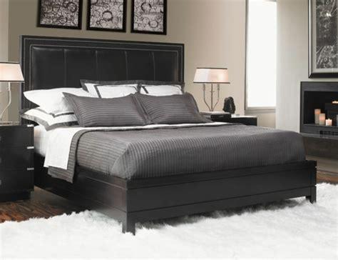 schlafzimmer mit schwarzem bett kopfteil f 252 r bett 46 coole designs archzine net