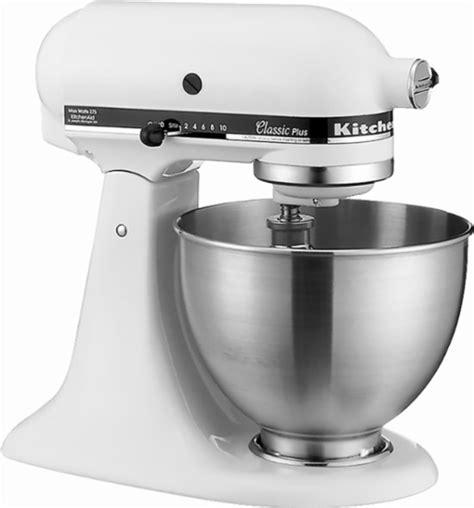 Mixer Kitchenaid Classic Series kitchenaid ksm75wh classic stand mixer white ksm75wh best buy