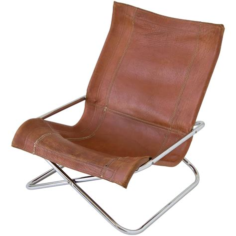 Leather Sling Chairs by Sueki Uchida Leather Sling Chair For Sale At 1stdibs