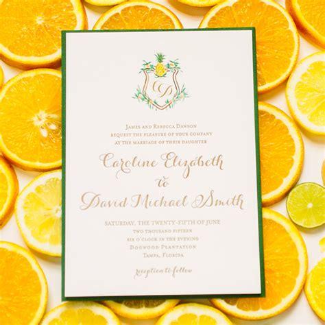 citrus themed wedding invitations citrus themed wedding invitations