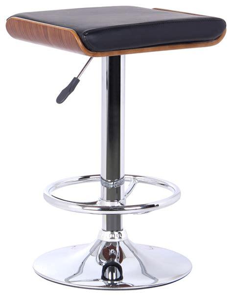 modern contemporary adjustable bar stools java modern adjustable swivel backless barstool black