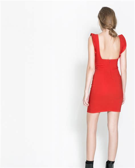 zara sleeveless dress with ruffles in lyst