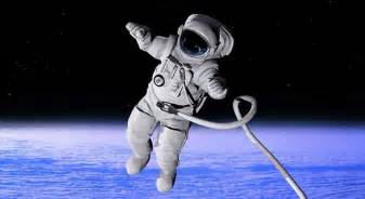 there is a astronaut floating around space who
