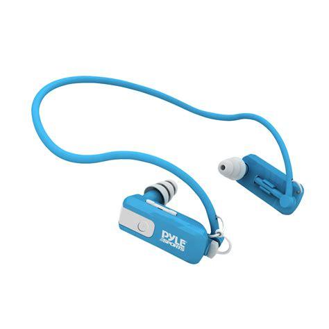 Headphones Underwater by Pyle Pswb4bl Waterproof Neckband Mp3 Player