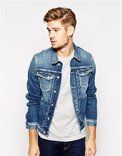 M 8 Styles Fashion Denim Jacket Slim Fit pepe pepe denim jacket rooster slim fit stretch