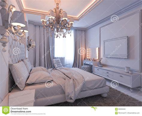 Modern Classic Interior Design Bedroom 3d Render Of Bedroom Interior Design In A Modern Classic