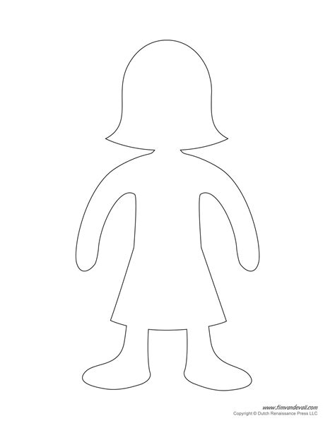 doll cut out template tim de vall comics printables for