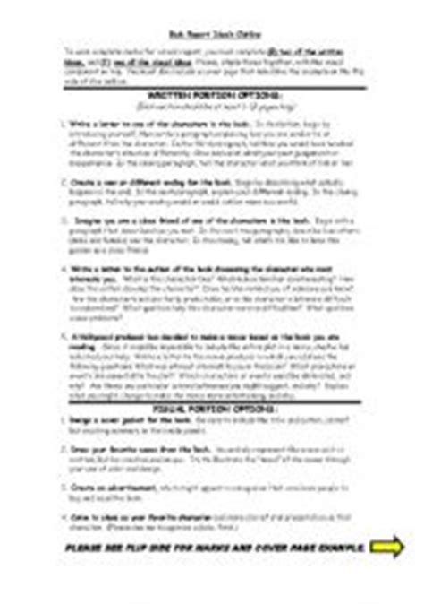 outline of a book report worksheets book report outline