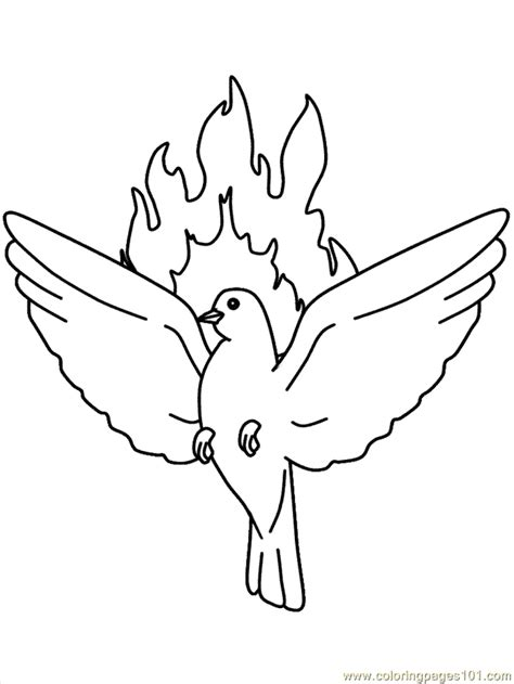 Holy Spirit Pentecost Coloring Pages Holy Spirit Coloring Page