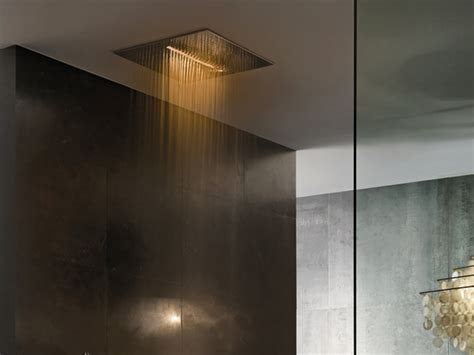 dusche beleuchtung wand overhead chromotherapy showerhead from fantini acqua zone