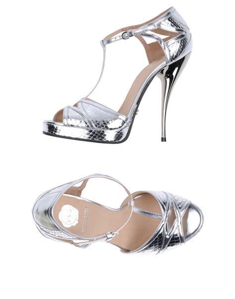 silver platform sandals viktor rolf platform sandals in silver lyst
