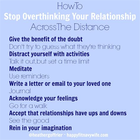 how to your to stop how to stop overthinking your relationship across the distance