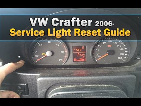 reset l200 service light vw crafter service light reset youtube