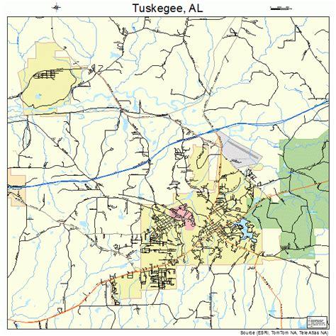 map of tuskegee alabama tuskegee alabama map 0177304