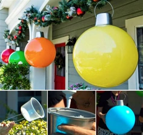 places that sell big christmas lutside balls how to make large decorations