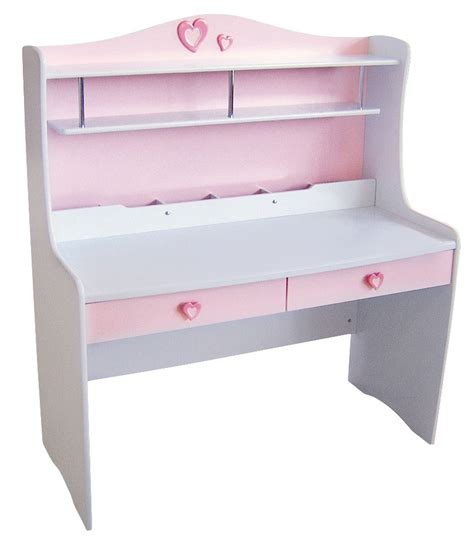 princess study desk pink or white bambino home