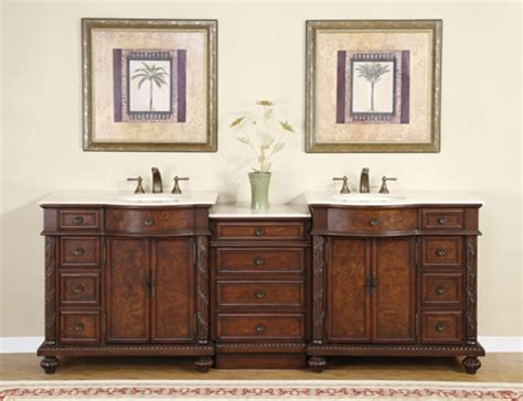 90 inch traditional bathroom vanity with