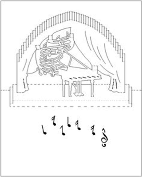 piano card template 1000 images about pop up templates on
