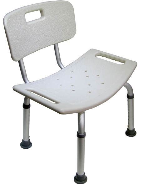 bathroom armless white shower chair with back read this