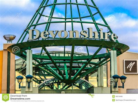 layout of devonshire mall devonshire mall sign editorial photo image 48519486
