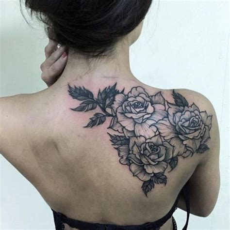 rose tattoos for back back shoulder tattoos shoulder