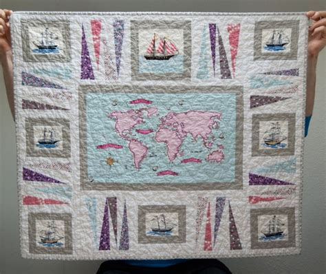 Out To Sea Quilt by An Out To Sea Baby Quilt Alan Really Handmade