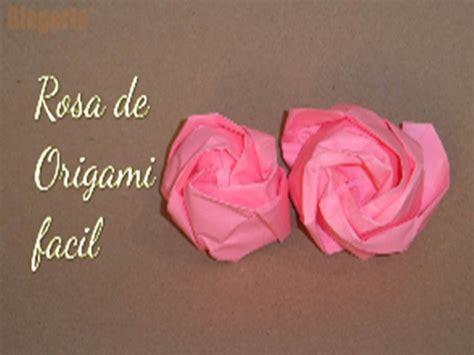 Rosa De Origami - como hacer una rosa de origami f 225 cil diy easy oigami