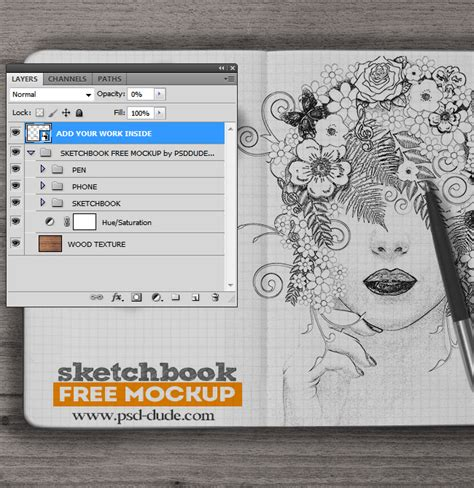 sketchbook pro vs photoshop sketchbook mockup free psd psddude
