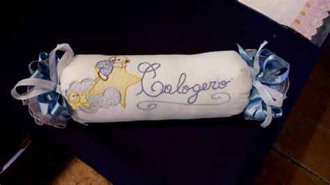 cuscino caramella cuscino caramella paracolpi ricamata bambini nascita