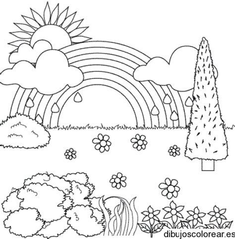 imagenes para dibujar un paisaje dibujo de un paisaje con arco iris